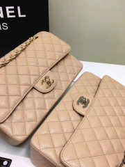 CHANEL 1112 beige 2.55 Calfskin Leather Flap Bag with Gold Hardware - 5
