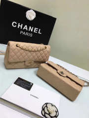 CHANEL 1112 beige 2.55 Calfskin Leather Flap Bag with Gold Hardware - 2