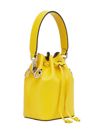 Fendi Mini Leather Mon Tresor Bucket Bag