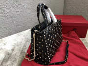 VALENTINO Candystud quilted leather tote 0061 black - 6