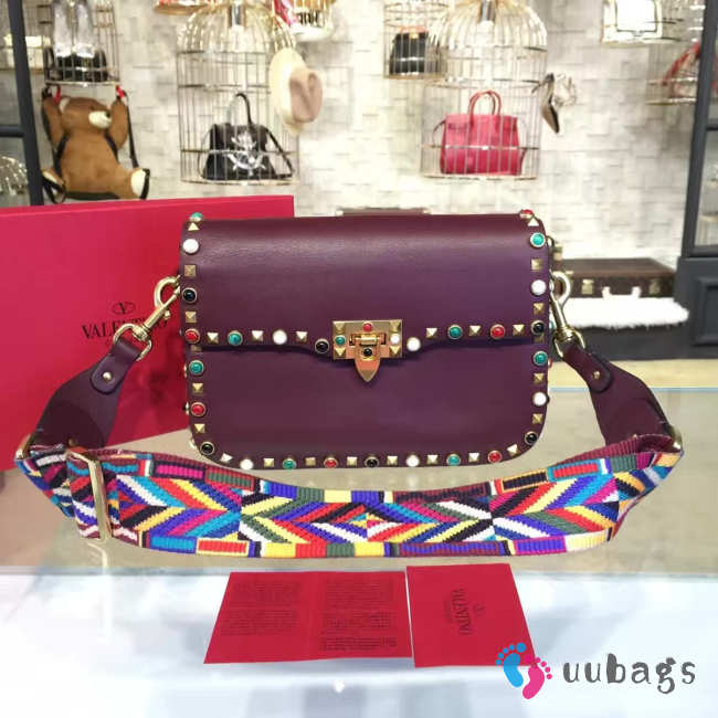 Valentino GUITAR ROCKSTUD ROLLING CROSS BODY BAG 4700