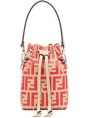 Fendi FF Mon Tresor Mini Bucket Bag In Beige Calfskin - 3
