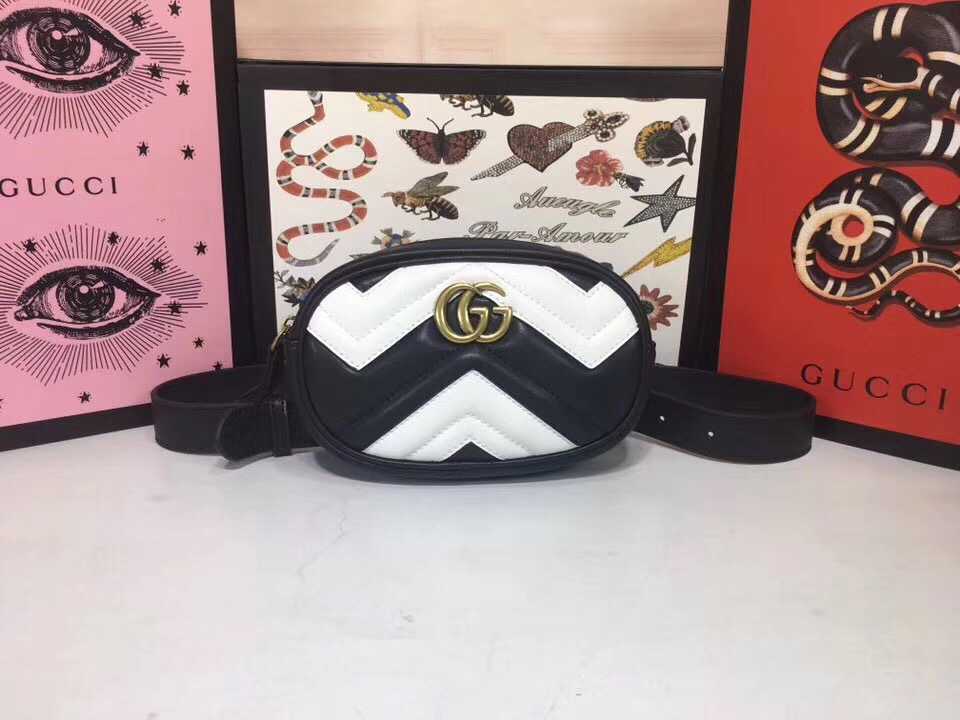 GG Marmont matelassé leather belt bag  ‎476434