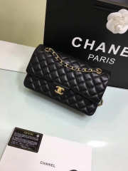 CHANEL 1112 black medium size 2.55 lambskin Leather Flap Bag with Gold/Silver Hardware - 3