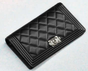 CHANEL Wallet A68722 black