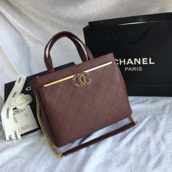 Chanel Tote Bag Dark Wine red 57563