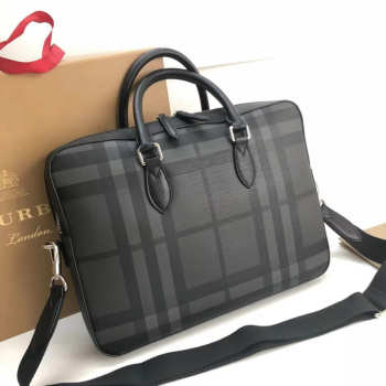 burberry Large Briefcase from London Check Fabric