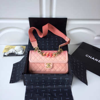 Chanel Flap Grained Calfskin Bag pink AS0062