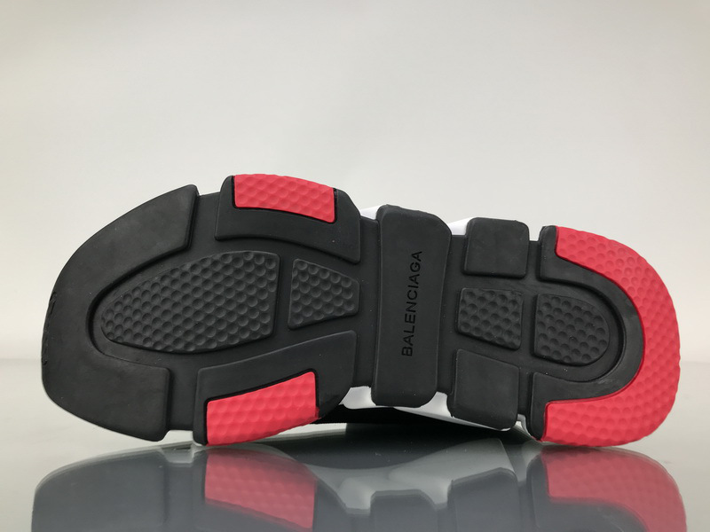 Balenciaga Speed Trainer Triple Black And Red shoes - 5