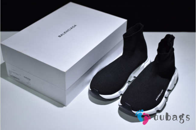 Balenciaga Speed Trainer Triple Black And White shoes