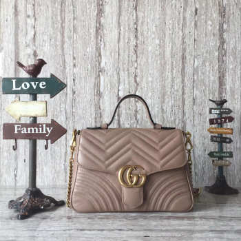 GG Marmont mini top original leather handle bag 498110