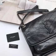 YSL Medium Niki Leather Shoulder Bag - 3