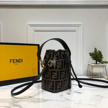 Fendi MON TRESOR Brown leather mini-bag