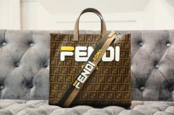 2019 Fendi  FF shopping bag brown