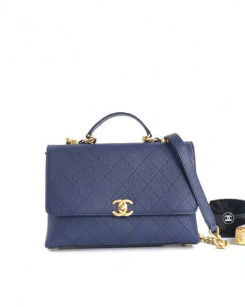 Chanel SHOULDER BAG Calfskin Blue