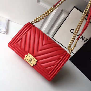 Chanel Chevron Lambskin Boy Bag 25cm
