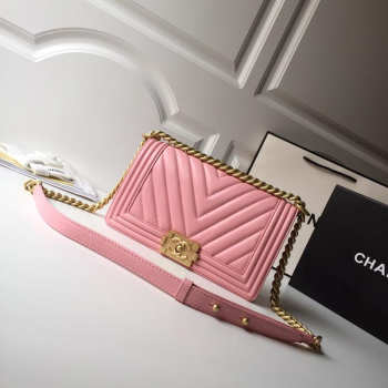 Chanel  Lambskin Boy Bag 25cm
