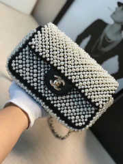 Chanel Flap bag with Imitation Pearls - 4
