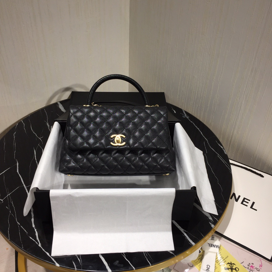 Chanel Flap Bag With Top Handle Black - 5