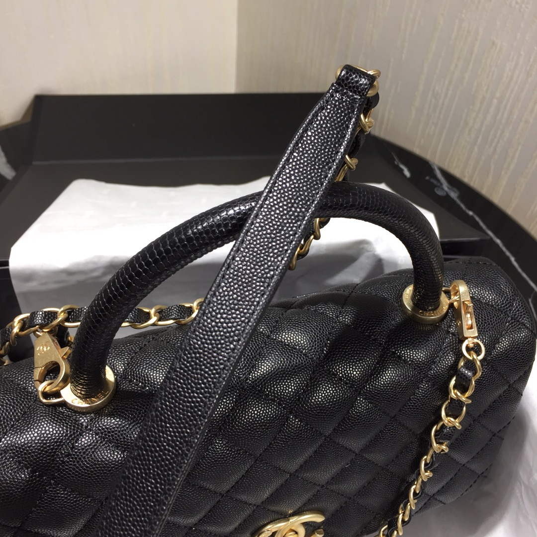 Chanel Flap Bag With Top Handle Black - 4