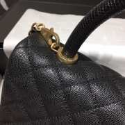 Chanel Flap Bag With Top Handle Black - 2