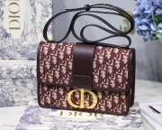 DIOR 30 MONTAIGNE DIOR OBLIQUE BAG  BULE&RED - 1
