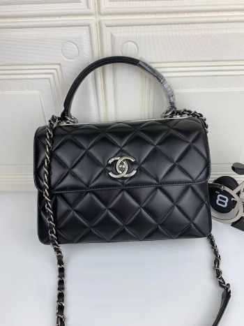 Chanel Trendy CC Flap Top Handle Bag with Silver Hardware