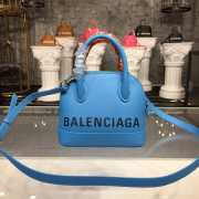 BALENCIAGA VILLE TOP HANDLE XXS BLUE BAG  - 1