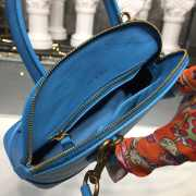 BALENCIAGA VILLE TOP HANDLE XXS BLUE BAG  - 3