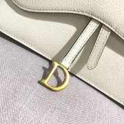 DIOR WHITE  SADDLE-CLUTCH VAN KALFSLEER - 3