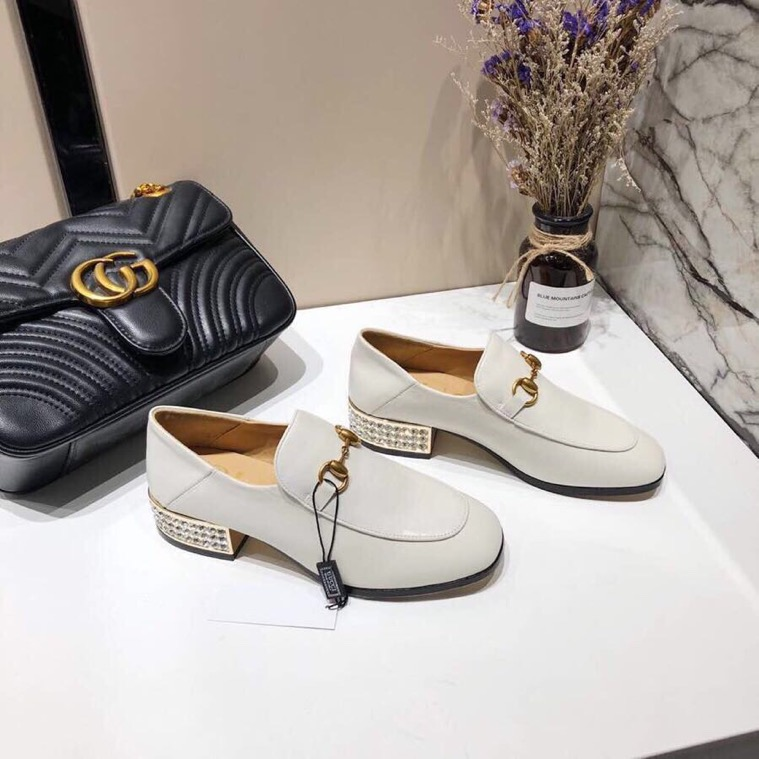 Gucci loafer with crystals - 5