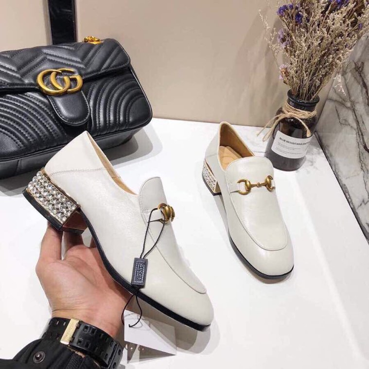 Gucci loafer with crystals - 4