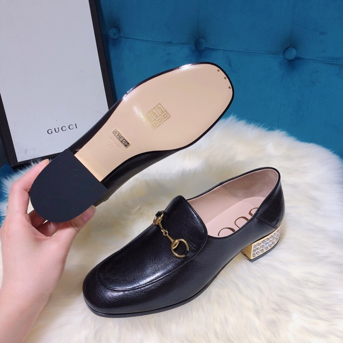 Gucci loafer with crystals Black - 2