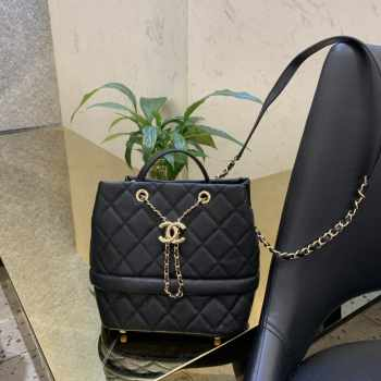Chanel bucket bag Caviar calfskin Black