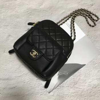 Chanel Backpack Caviar Leather Black