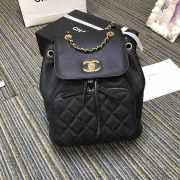 Chanel Fine Grain Embossed Calf Leather Backpack - 1