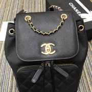 Chanel Fine Grain Embossed Calf Leather Backpack - 6