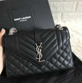 YSL ENVELOPE MEDIUM BAG SILVER HARDWARE