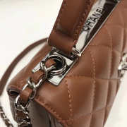 Chanel Trendy CC Flap Top Handle Tan Bag with Silver Hardware - 4