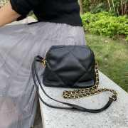 Chanel Lambskin small bowling bag black - 1