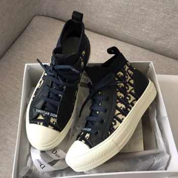 DIOR TECHNICAL KNIT OBLIQUE MID-TOP SNEAKER