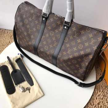 Louis Vuitton Keepall BANDOULIÈRE 55 Black