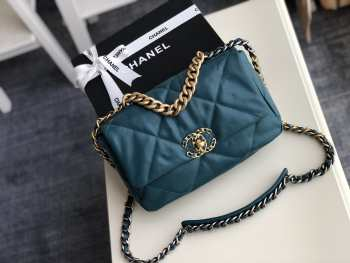 chanel 19 flap bag Turquoise