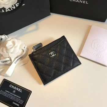Chanel Card Holder Caviar Leather
