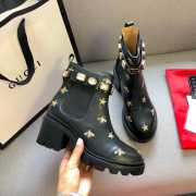Gucci Embroidered leather ankle boot - 3