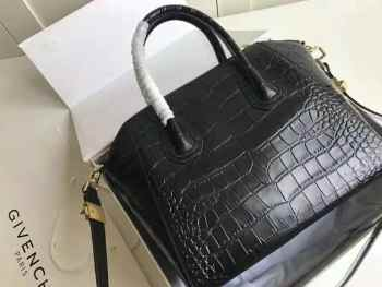 GIVENCHY SMALL ANTIGONA BAG IN CROCODILE EFFECT LEATHER