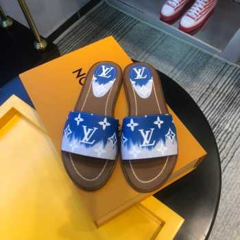 LV slippers Red&Blue