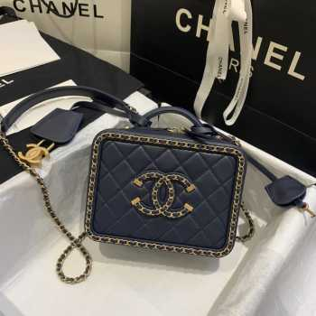 Chanel Vanity Case Navy Small