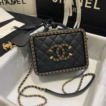 Chanel Vanity Case Black Small