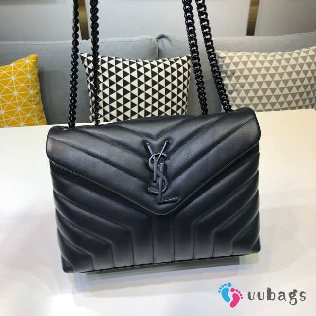 YSL MONOGRAM LOULOU SMALL SIZE ALL BLACK